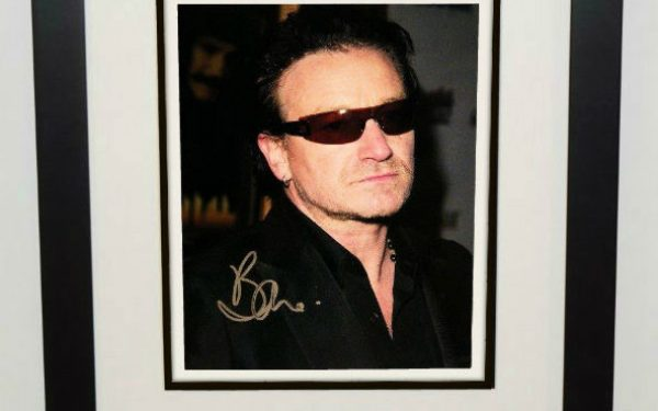 #8-U2 – Bono Signed 8×10 Photograph