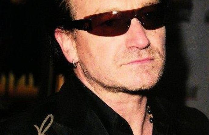 #8-U2 Bono Signed 8×10 Photograph