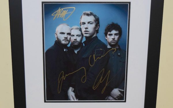 #1-Cold Play Signed 8×10 Photograph