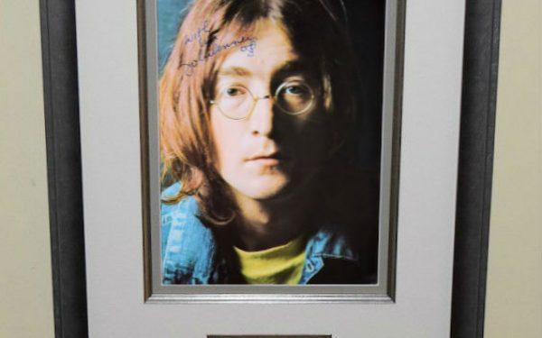 #1-John Lennon Signed 8×10 Photograph