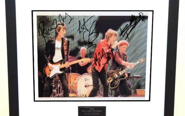 #9-Rolling Stones Signed 8×10 Photograph
