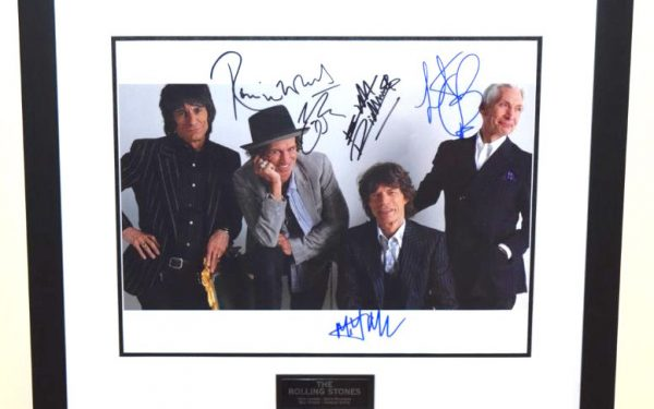 #4-The Rolling Stones Signed 11×14 photograph