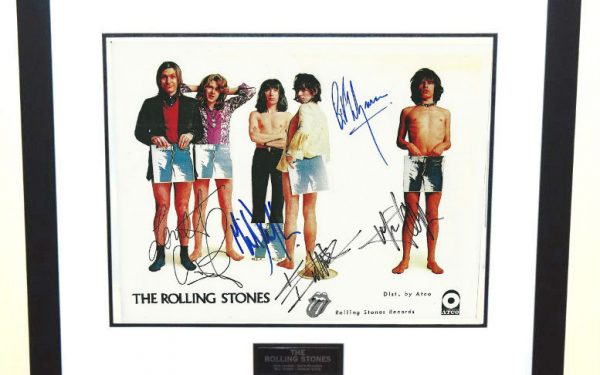 #3-Rolling Stones Signed 8×10 Photograph