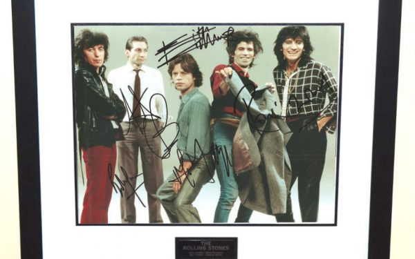 #8-The Rolling Stones Signed 8×10 Photograph