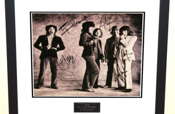 #7-Rolling Stones Signed 12×12 Promotional Photograph