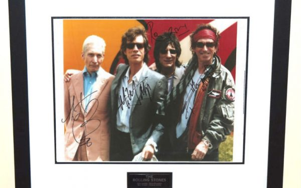 #5-The Rolling Stones signed 11×14 photograph