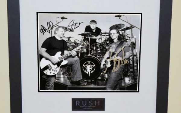 #1-Rush Signed 8×10 Black and White Photograph