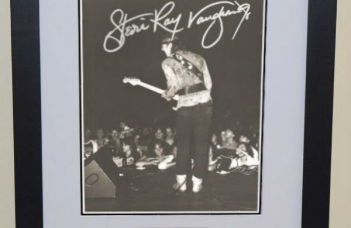 #3-Stevie Ray Vaughan Signed 8×10 Photograph