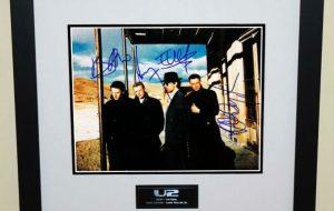#4-U2 Signed 8×10 Photograph