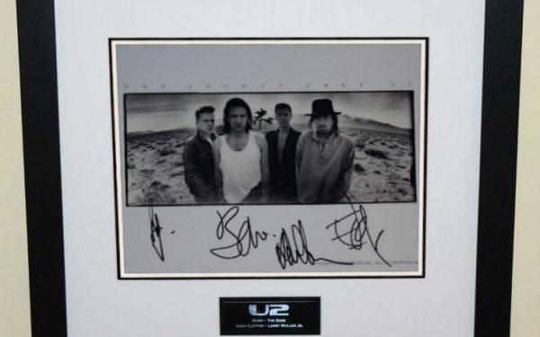#5-U2 Signed 8×10 Promotional Photograph