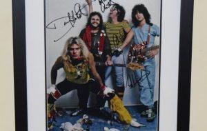 #2-Van Halen Signed promotional 11×14 Photograph