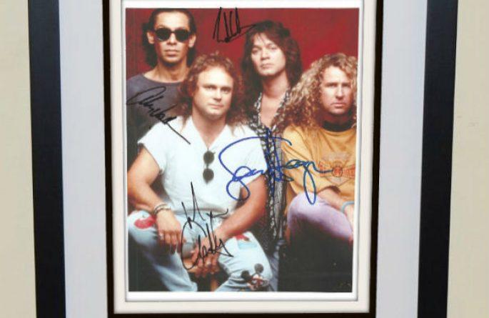 #3-Van Halen Signed 8×10 Photograph