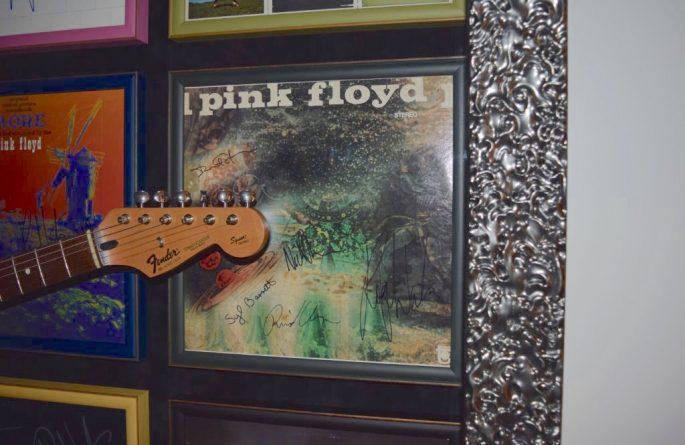 Pink Floyd Guitar Display
