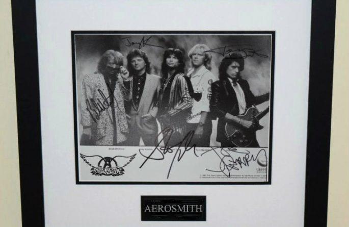 #2-Aerosmith Signed 8×10 Photograph