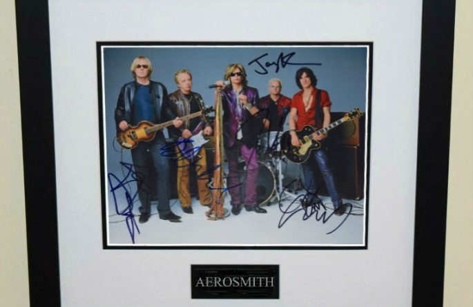 #4-Aerosmith Signed 8×10 Photograph