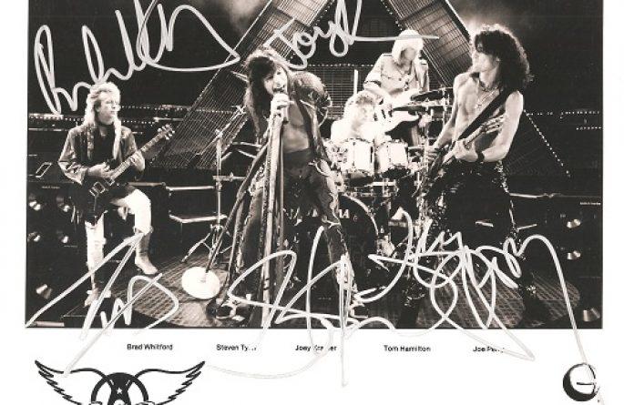 #6-Aerosmith Signed 8×10 Photograph