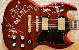 Aerosmith Red Epiphone Guitar