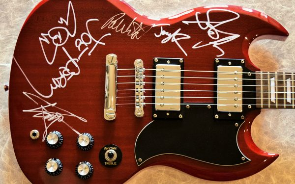 Aerosmith Red Epiphone Guitar
