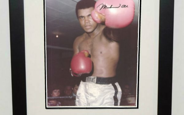 #5-Muhammad Ali Signed 8×10 Photograph