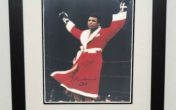 #4-Muhammad Ali Signed 8×10 Photograph