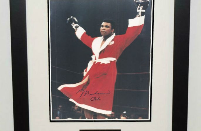 #4-Muhammad Ali Signed 8×10 Photograph