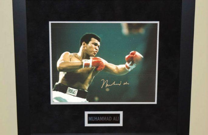 #2-Muhammad Ali Signed 8×10 Photograph