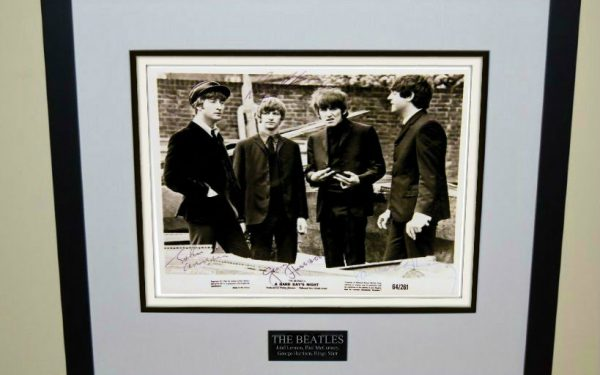 #1-The Beatles Signed 8×10 Photograph