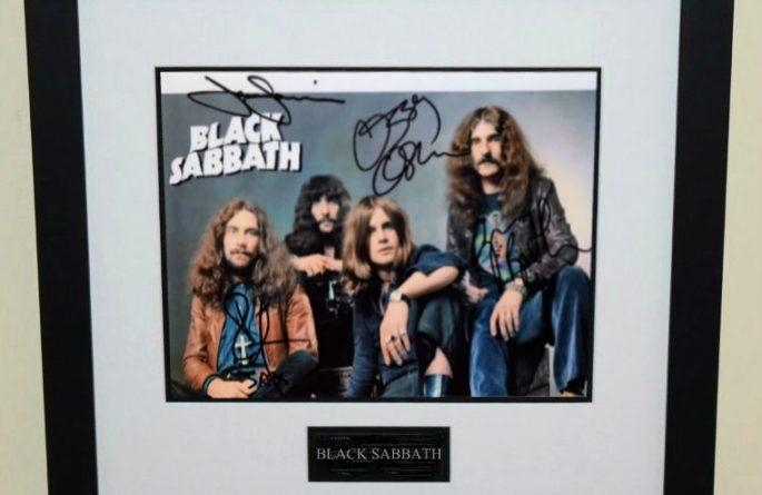#1-Black Sabbath Signed 8×10 Photograph