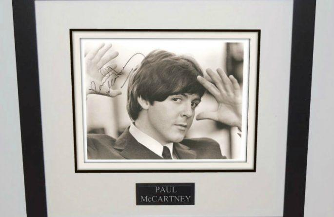 #6-Paul McCartney Signed 8×10 Photograph