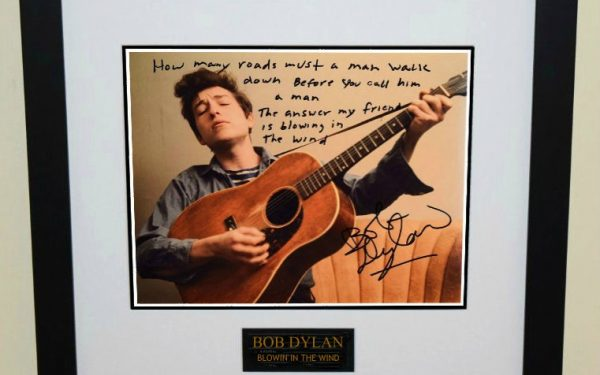 #1-Bob Dylan Signed 8×10 Photograph