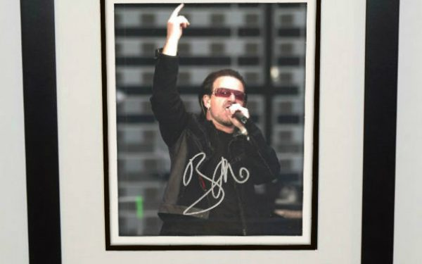#6-U2 – Bono Signed 8×10 Photograph