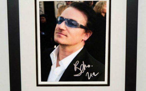 #7-U2 – Bono Signed 8×10 Photograph