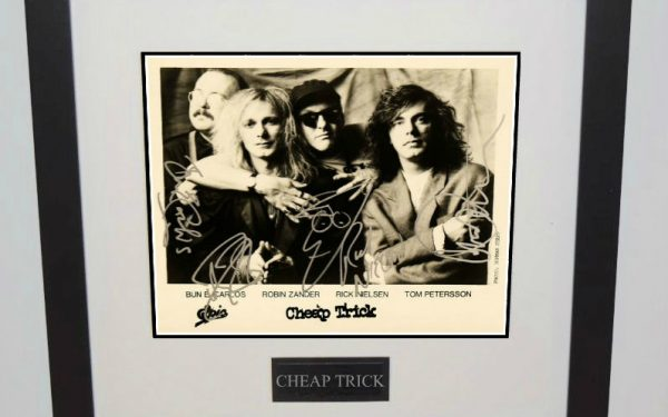 #2-Cheap Trick Hand Signed Photograph