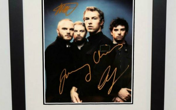 Cold Play Signed Photograph
