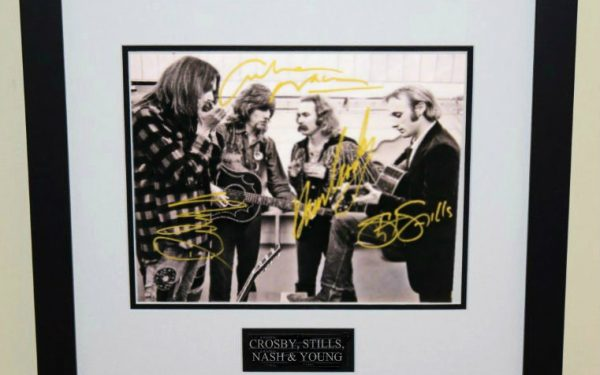 #1-Crosby, Stills, Nash & Young Signed 8×10 Photograph
