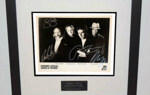 #2-Crosby, Stills, Nash & Young  Signed 8×10 Photograph