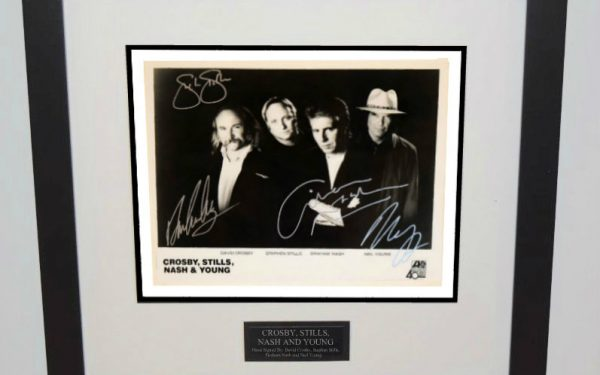 #2-Crosby, Stills, Nash & Young  Signed 8×10 Photograph