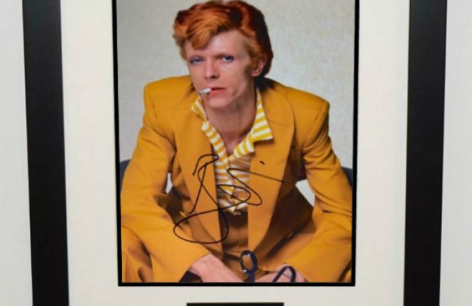 #4-David Bowie Signed 8×10 Photograph