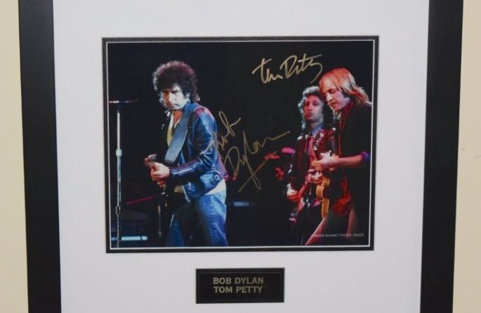 #9-Bob Dylan & Tom Petty Signed 8×10 Photograph