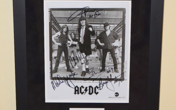 #1-AC/DC Signed 8×10 Photograph