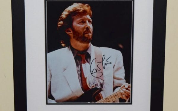 #6-Eric Clapton Signed 8×10 Photograph