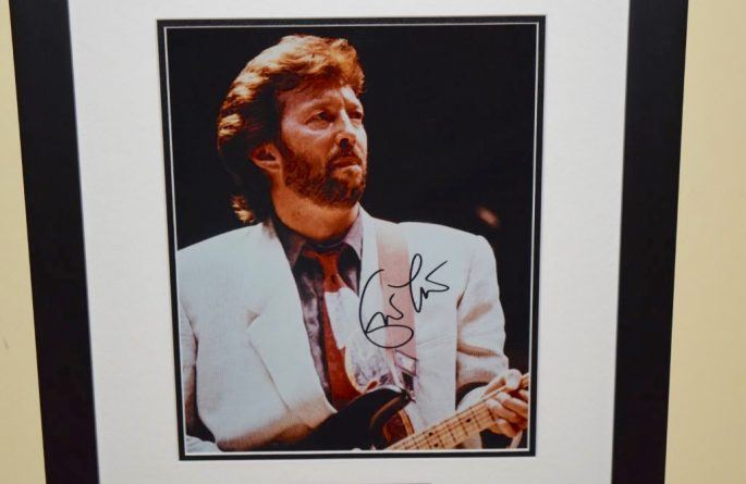 #6-Eric Clapton Signed 8×10 Photograph