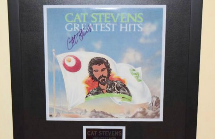 cat stevens greatest hits rock star gallery hand signed collectiblesrock star gallery. Black Bedroom Furniture Sets. Home Design Ideas