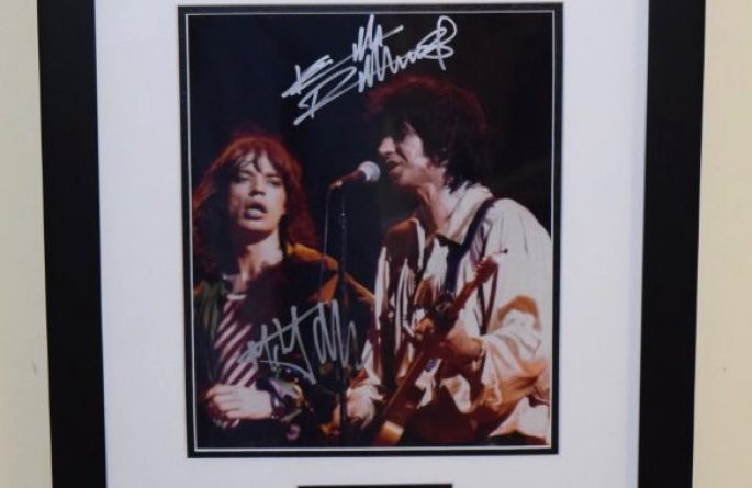 #5-Keith Richards and Mick Jagger Signed Photograph