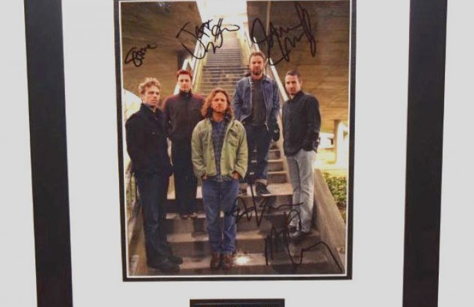 #1-Pearl Jam Signed 8×10 Promotional Photograph