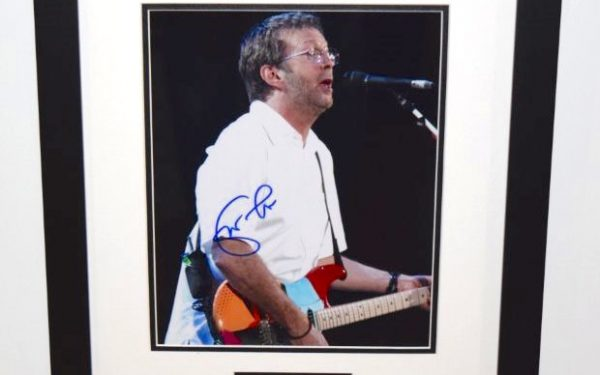 #4-Eric Clapton Signed 8×10 Photograph