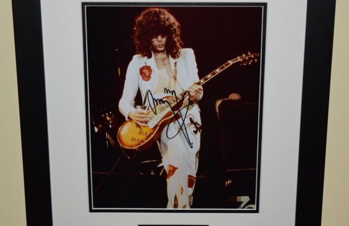 #3-Jimmy Page Signed 8×10 Photograph