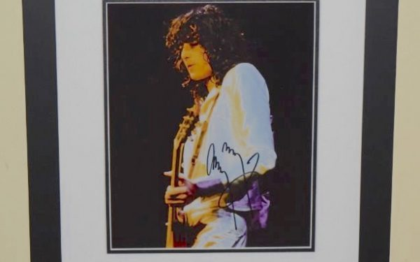 #2-Jimmy Page Signed 8×10 Photograph