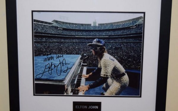 #2-Elton John Signed 8×10 Photograph