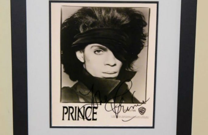 #3-Prince Signed 8×10 Photograph
